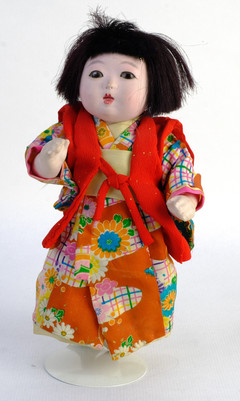 muñeca Ichimatsu de cabeza de gofun años 40