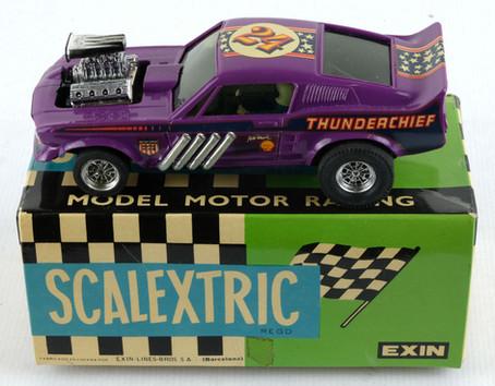 Coche Scalextric Exin Fird Mustang morado Ref-4049 años 70