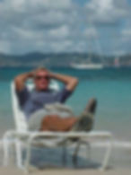 Doug relaxing on Peter Island, BVI w_Dak