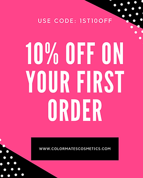 10% off colormates cosmetics