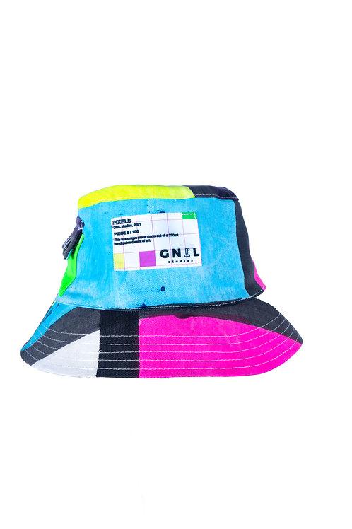 PIXELS bucket hat