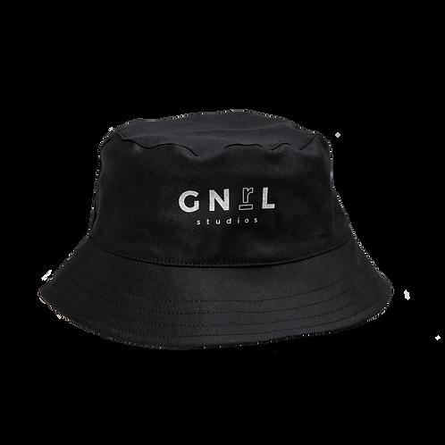 Bucket Hat JUST IN CASE- Negro
