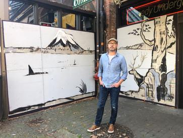 How to create a mural 56 feet wide (18 m)