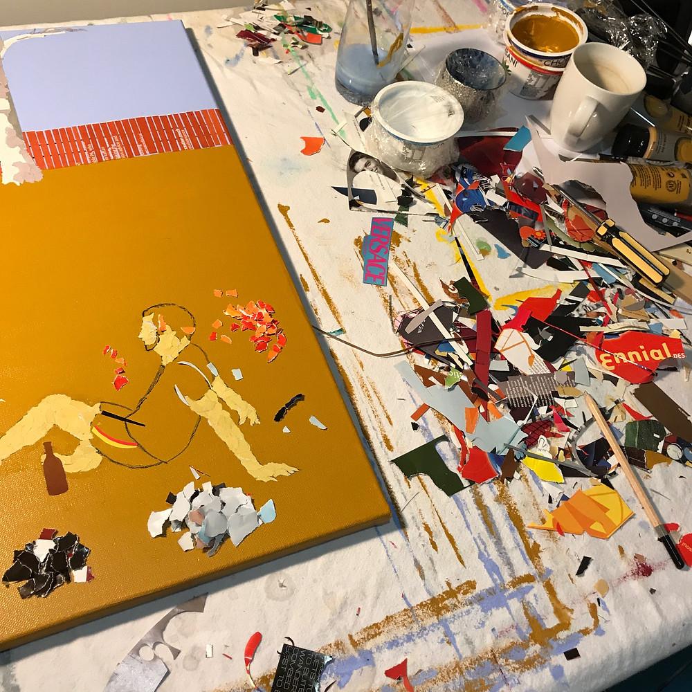Ray Monde collage studio