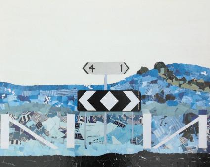 Dead end on Reservoir Lane, Mixed Media