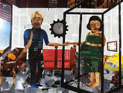 Hard labour collage by Ray Monde