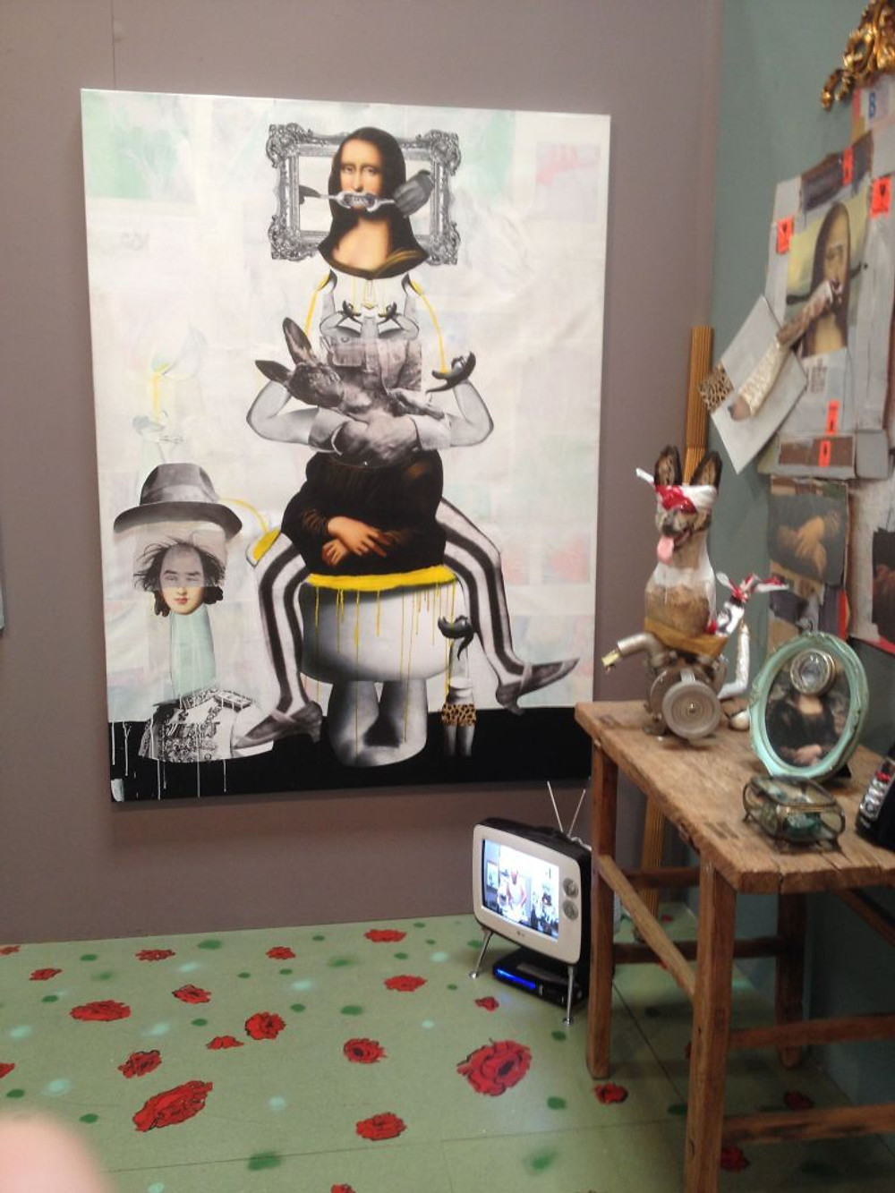 Detail by Ramin Haerizadeh, Rokni Haerizadeh and Hesam Rahmanian at Gallery Isabelle Van Den Eynde