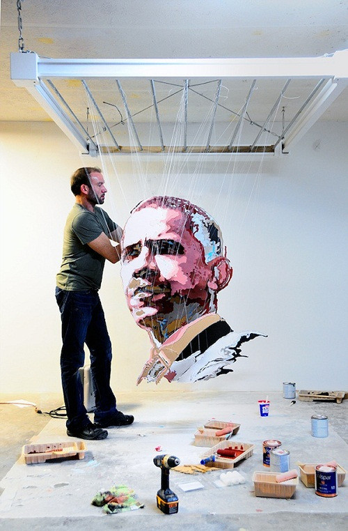 3D paper work created for Time Magazine, person of the year 2012