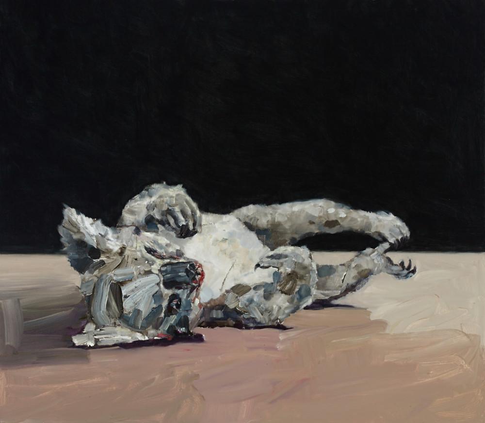 Painting of a dead koala