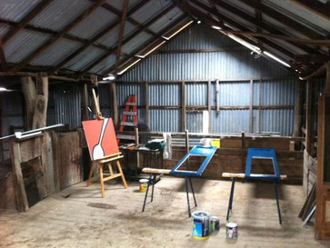 When it floods, head to the shearing shed