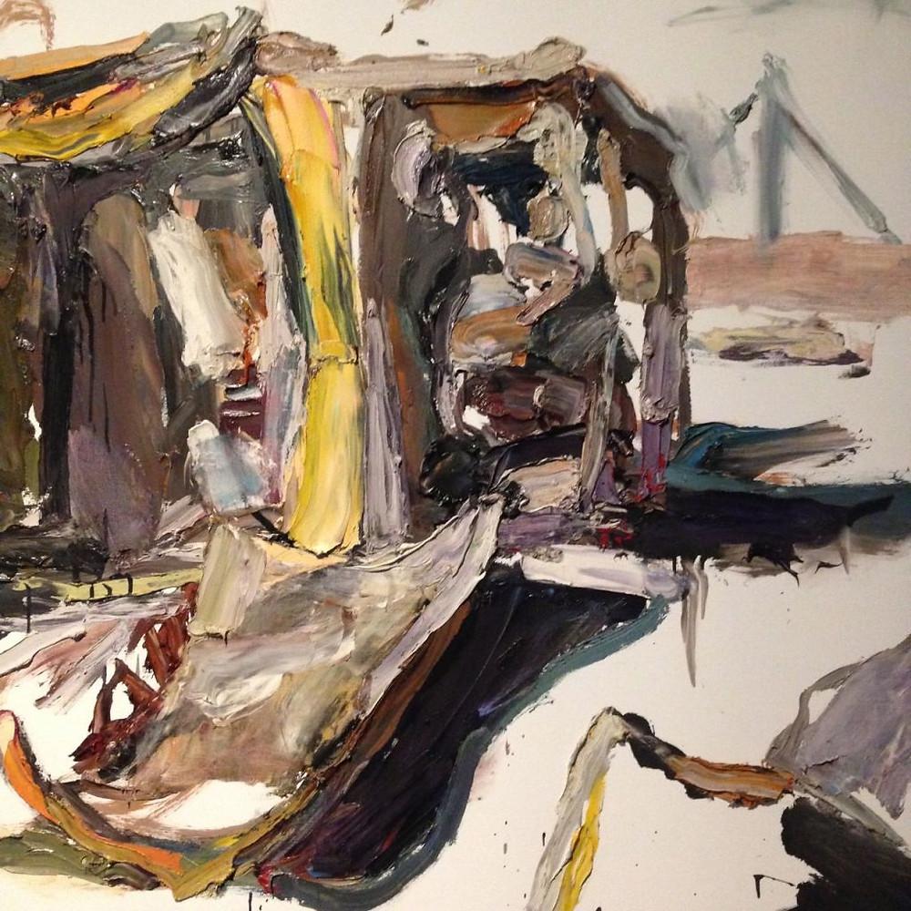 Taren Kot, Hilux; 2012, Oil on linen, Ben Quilty born 1973.