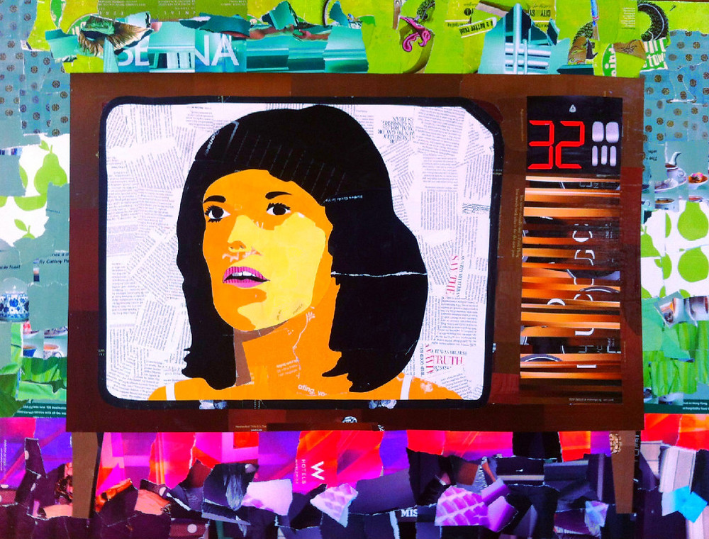 Lindy Chamberlain collage on television