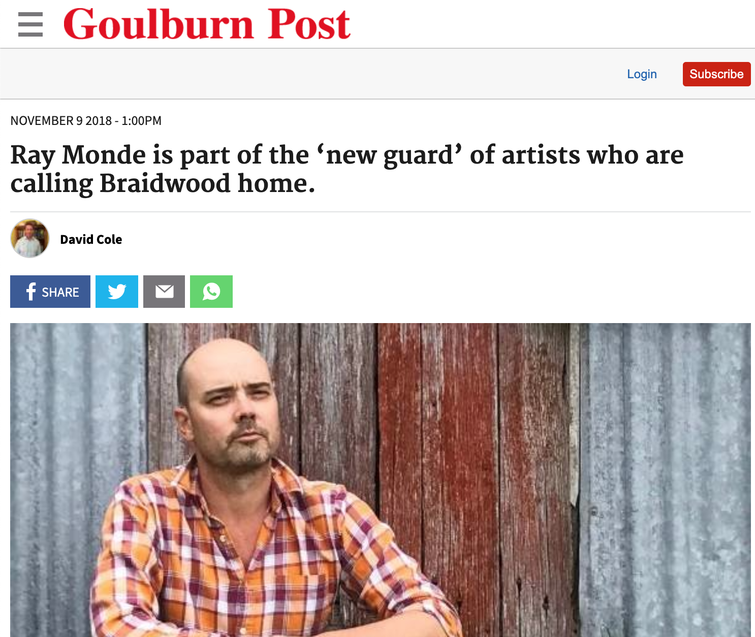 Ray Monde new guard of artists