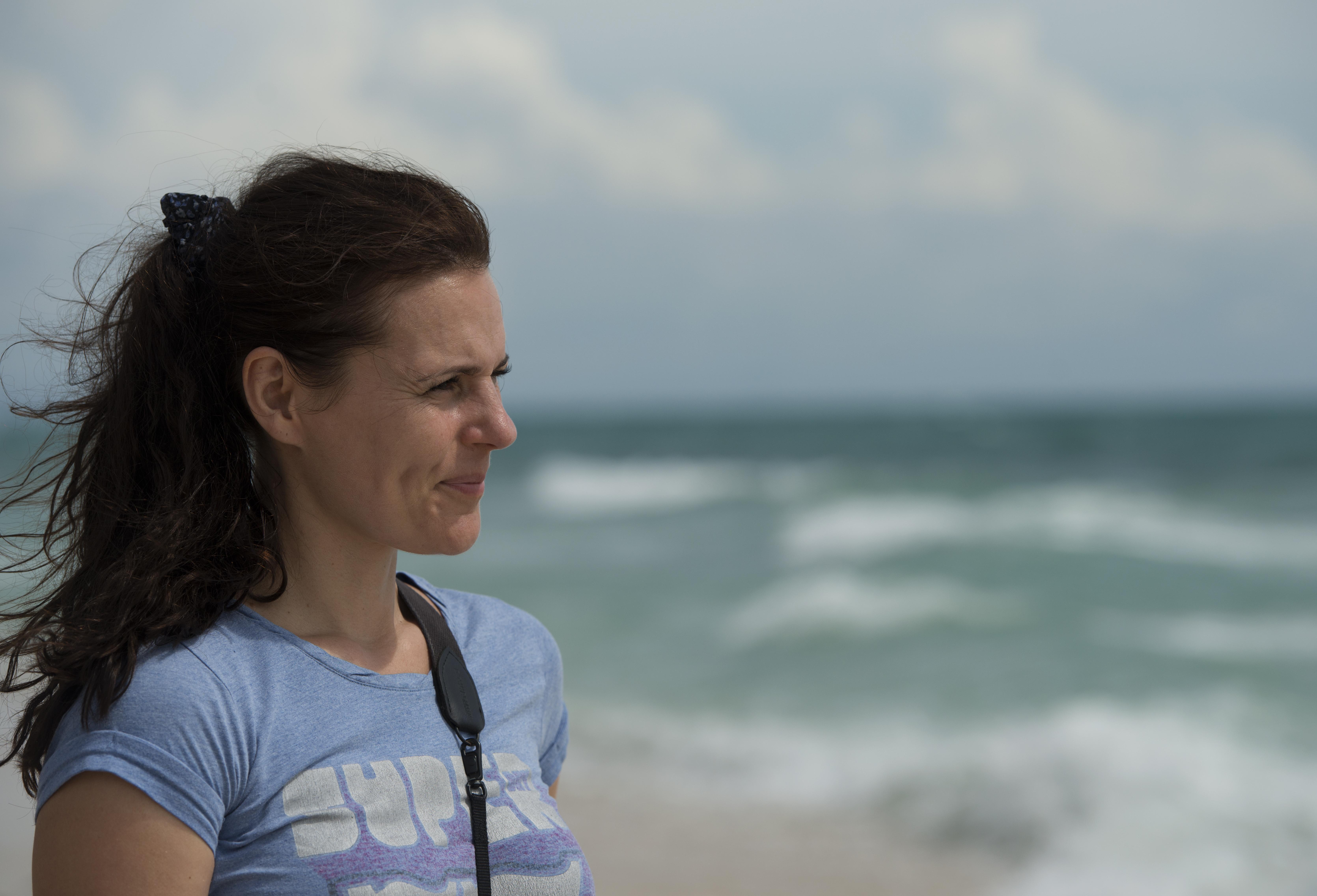 Nina on the beach