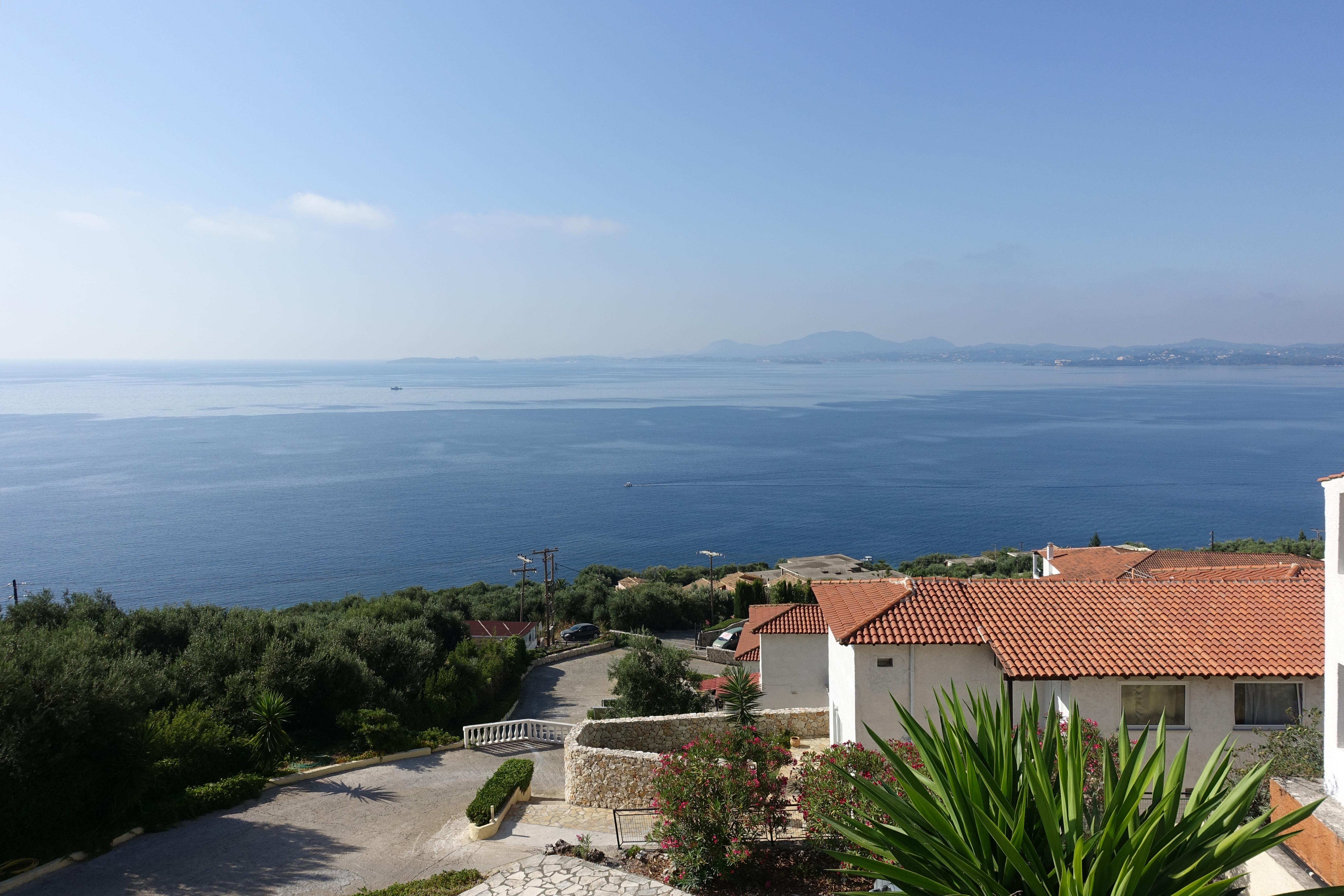 Barbati_view from room_Hotel Pantokrator