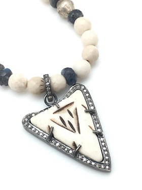 Bone Arrow Pendant and Necklace