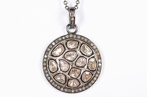 Rose Cut & Pave Diamond Pendant