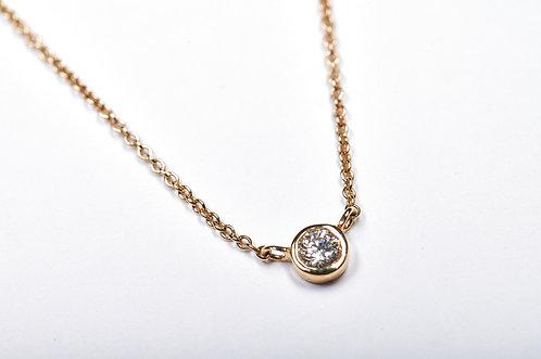 Single Bezel Gold Necklace