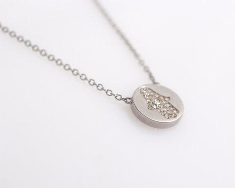 Reversible Pave Diamond Necklace
