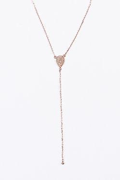 Rose Gold Lariat Necklace