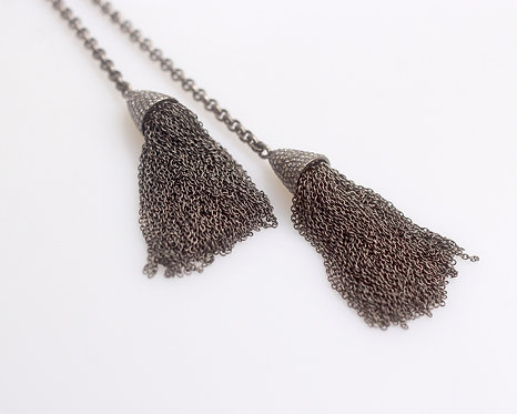 Pave Diamond Tassel Necklace
