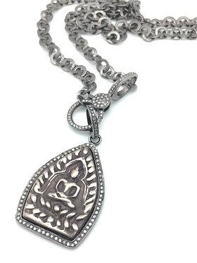 Buddha Pendant with Pave Diamonds