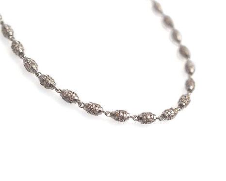Diamond Barrel Necklace