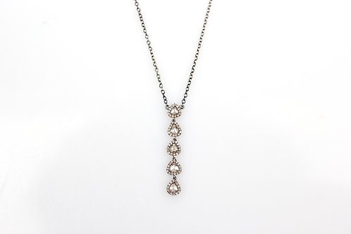 Sliced Diamond Drop Necklace