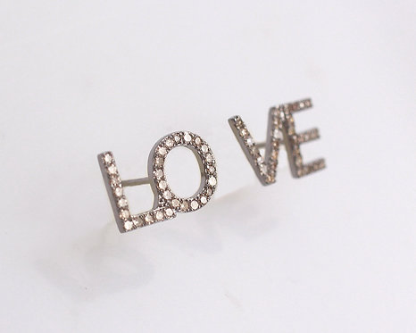 Diamond LOVE Earrings