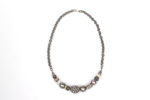 Mixed Stone, Diamond and Pearl Necklace