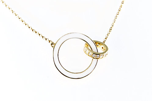 Double Gold Circle Necklace