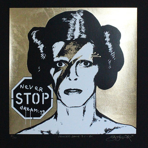 Princess Bowie 3.1 - BV (gold on black paper)