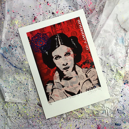 Princess 1.4 (screenprint on white paper)
