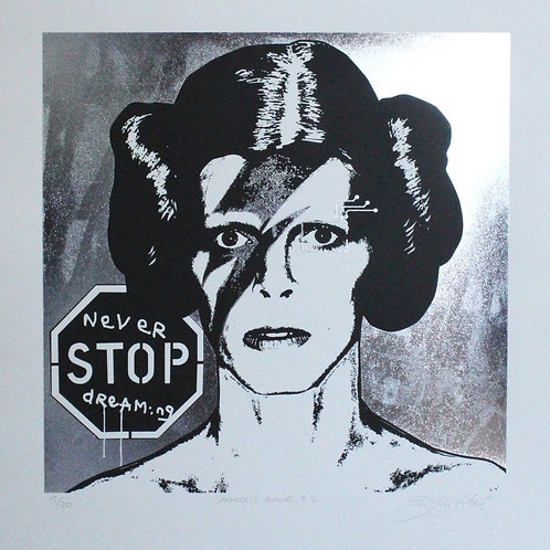 Princess Bowie 3.2 (silver on white paper)