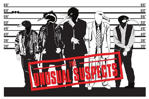 The Unusual Suspects 1.1 (screenprint on board)
