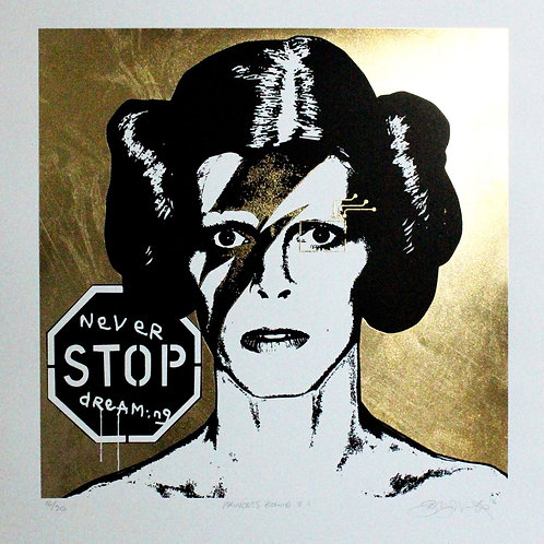 Princess Bowie 3.1 (gold on white paper)