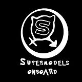 Supermodels on board logo b&w with lette