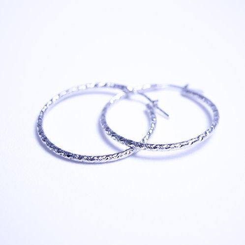Kolczyki koła srebro 925