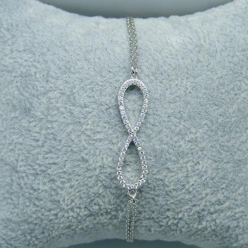 Bransoletka ze znakiem nieskończoności srebro 925
