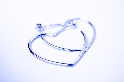 Kolczyki serca małe srebro 925