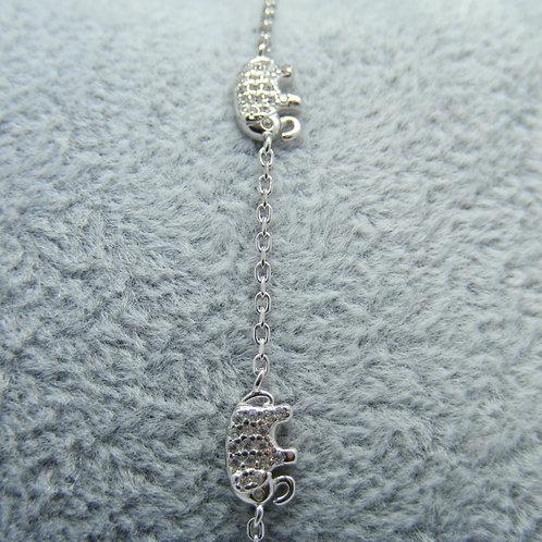 Bransoletka słonie srebro 925