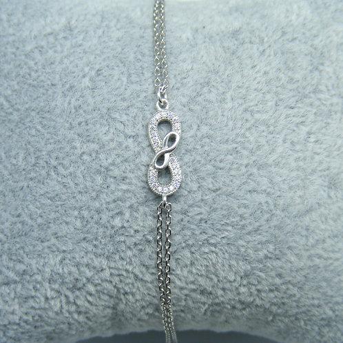 Bransoletki infinity srebro 925