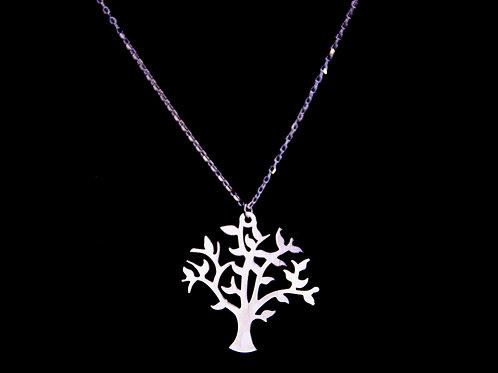 Naszyjnik srebrny z zawieszką drzewo srebro 925