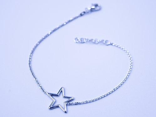 Bransoletka gwiazda srebro 925