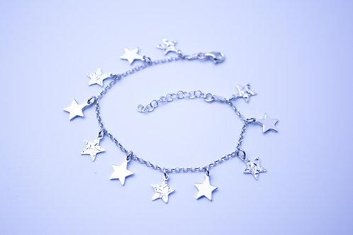 Bransoletka gwiazdki srebro 925