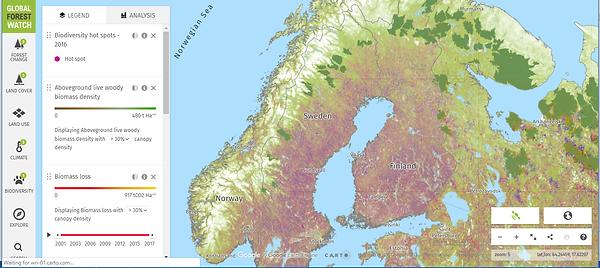 Scandinavia Forest Cover February 2019.p