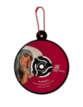 45RPM Ornament with Custom Adapter White