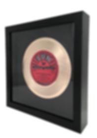 7 Inch Framed Gold Record_White Backgrou