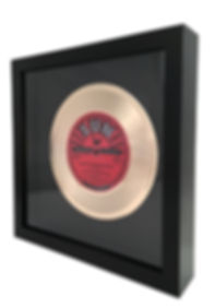 7 Inch Framed Gold Record_White Backgrou