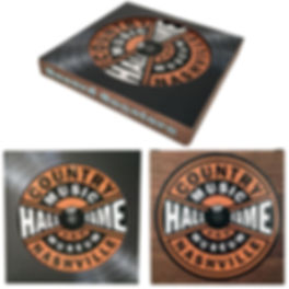 Record Label Coaster Paperboard Box MSTR